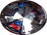 NYC Circle-seeing Times Square thru the eyes of a disc