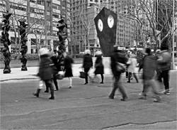 Street Walkers in the City